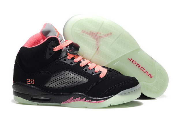 Womens Jordan V Shoes Black/Pink